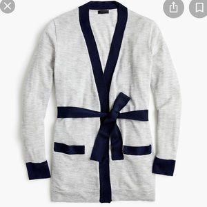 J. Crew cashmere colorblock long cardigan size med